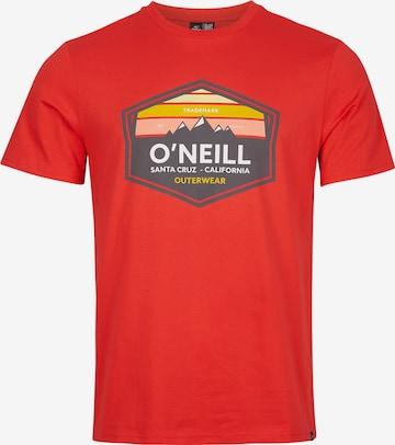 T-Shirt 'Mountain Trademark' O'NEILL en rouge