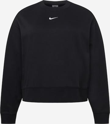 Nike Sportswear Athletic Sweatshirt in Black