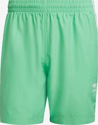 ADIDAS ORIGINALS Badehose 'Adicolor' in grün / weiß, Produktansicht