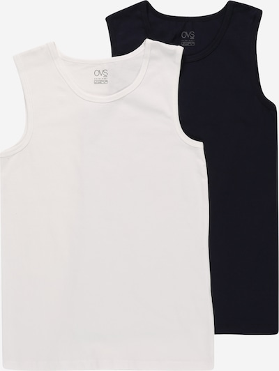 OVS Onderhemd in de kleur Nachtblauw / Offwhite, Productweergave