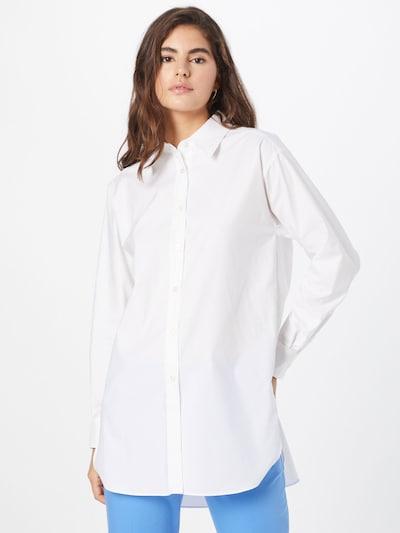 BOSS Bluse 'Bacora' in weiß, Modelansicht