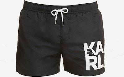 Karl Lagerfeld Badehose in schwarz / weiß, Produktansicht