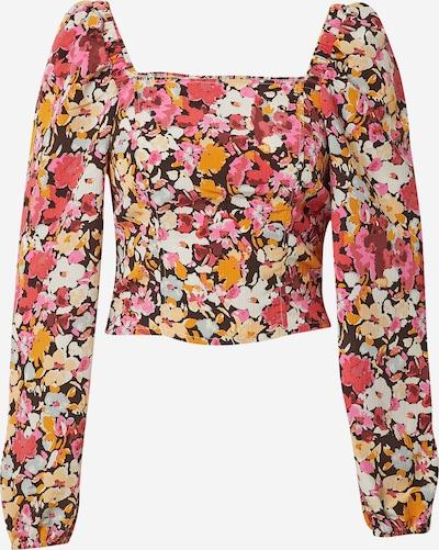 ONLY Top 'ELLA' in de kleur Kastanjebruin / Goudgeel / Pasteelgeel / Rood / Wit, Productweergave