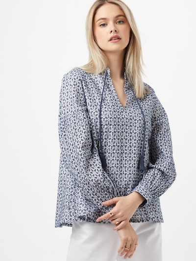 s.Oliver Blouse in de kleur Donkerblauw / Wit, Modelweergave