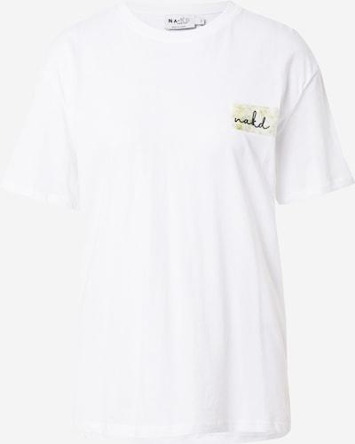 NA-KD T-Shirt in grün / schwarz / weiß, Produktansicht
