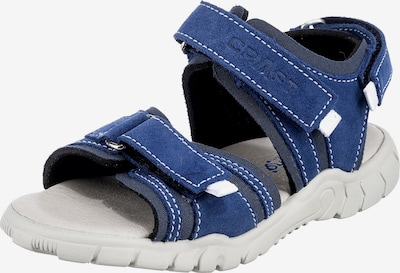 Däumling Sandale in blau, Produktansicht
