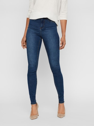 Noisy may Jeans 'Callie' in de kleur Blauw denim, Modelweergave