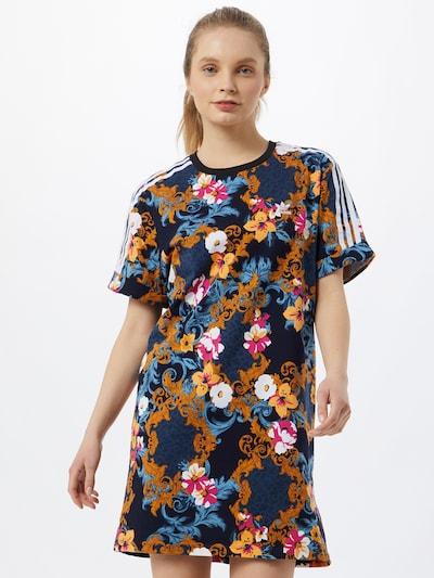 ADIDAS ORIGINALS Kleid 'HER Studio London' in hellblau / dunkelblau / orange / melone / weiß, Modelansicht