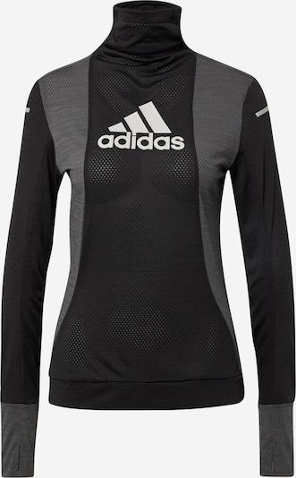 ADIDAS PERFORMANCE T-shirt fonctionnel en gris / noir / blanc, Vue avec produit