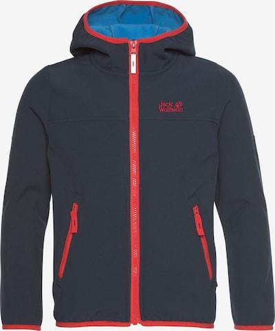 JACK WOLFSKIN Veste outdoor 'FOURWINDS' en marine / rouge clair, Vue avec produit