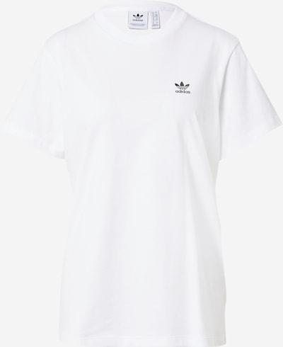 ADIDAS ORIGINALS Majica u crna / bijela: Prednji pogled