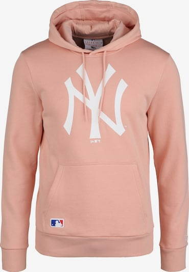 NEW ERA Sportsweatshirt 'MLB New York Yankees Seasonal' in de kleur Oudroze / Wit, Productweergave