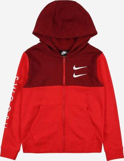 Nike Sportswear Sweatvest in de kleur Rood / Bloedrood / Wit, Productweergave