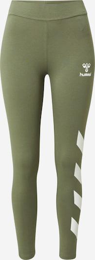 Hummel Sporta bikses 'SOMMER', krāsa - olīvzaļš / balts, Preces skats
