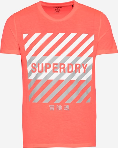 Superdry Functioneel shirt in de kleur Watermeloen rood / Zilver / Wit, Productweergave