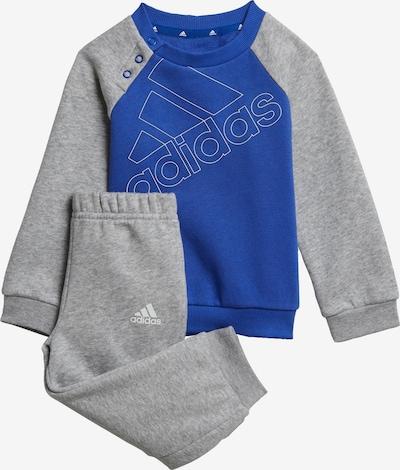 ADIDAS PERFORMANCE Trainingsanzug in royalblau / graumeliert / weiß, Produktansicht