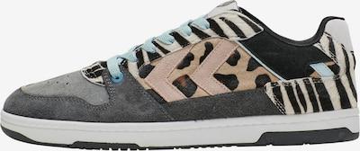 Hummel Sneaker 'Power Play' in beige / aqua / grau / schwarz, Produktansicht