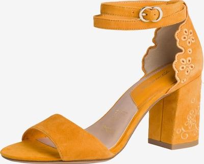 TAMARIS Sandales à lanières en jaune d'or, Vue avec produit