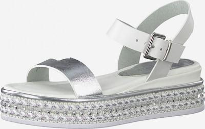 Sandalo con cinturino MARCO TOZZI di colore argento / bianco, Visualizzazione prodotti