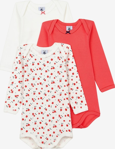 PETIT BATEAU Romper/Bodysuit in Light red / Black / White, Item view