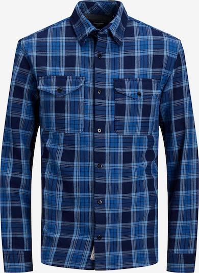 JACK & JONES Hemd 'Woodland' in azur / dunkelblau, Produktansicht
