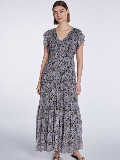 SET Kleid in dunkelgrün / lila / apricot / schwarz, Modelansicht
