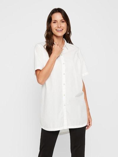 PIECES Hemd in weiß, Modelansicht