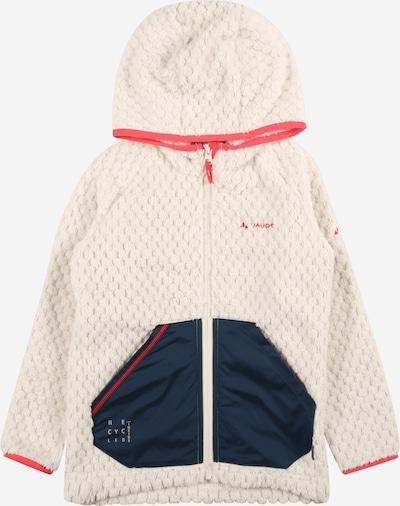 VAUDE Fleece jas 'Manukau' in de kleur Ecru / Blauw, Productweergave