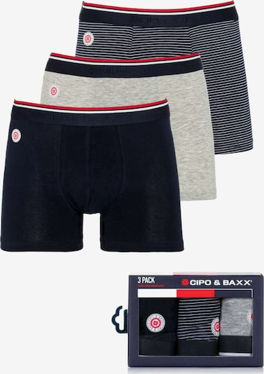 CIPO & BAXX Boxershorts in blau / grau / weiß, Produktansicht