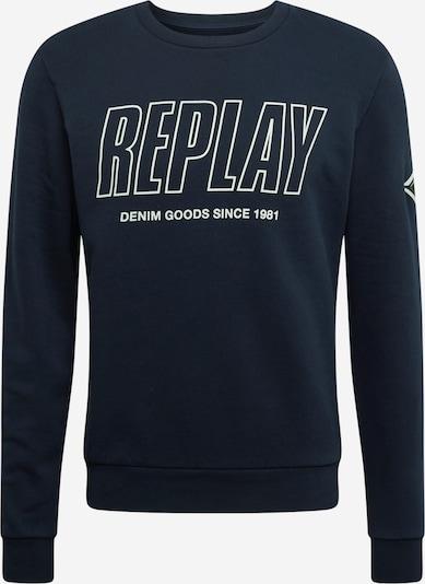 REPLAY Sweatshirt in dunkelblau / weiß, Produktansicht