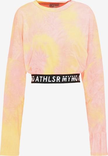 myMo ATHLSR Shirt in pastellgelb / mischfarben / pastellorange / pastellpink / schwarz / weiß, Produktansicht