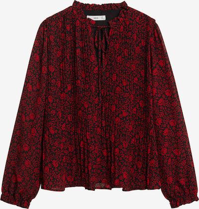 MANGO Bluse 'Pliti' in rot / schwarz, Produktansicht
