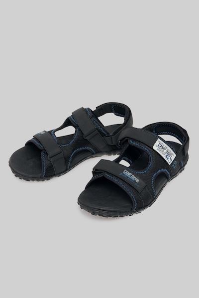 CAMP DAVID Trekking Sandale aus Mesh in schwarz: Frontalansicht