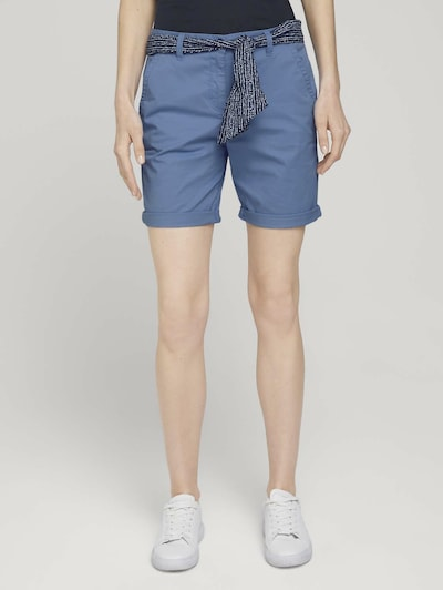 TOM TAILOR Chino Pants in Night blue / Dusty blue / Light blue, View model