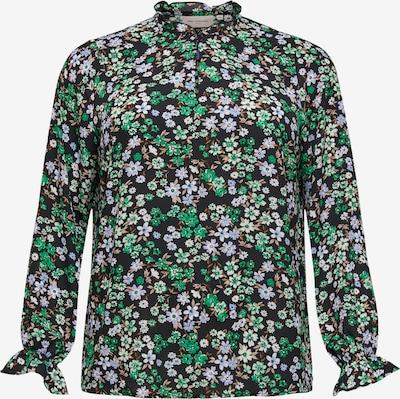 ONLY Carmakoma Blusa en azul real / marrón / verde / negro / blanco, Vista del producto