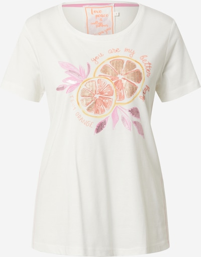LIEBLINGSSTÜCK T-Shirt 'Dina' in goldgelb / gold / lachs / pastellpink / offwhite, Produktansicht