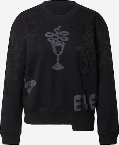 JNBY Sweat-shirt en gris basalte / noir, Vue avec produit