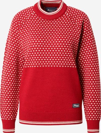 Pulovere sport 'Alvdal' Bergans pe roșu / alb, Vizualizare produs