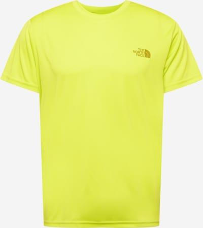 THE NORTH FACE Camiseta funcional 'REAXION' en amarillo / amarillo oscuro / blanco, Vista del producto
