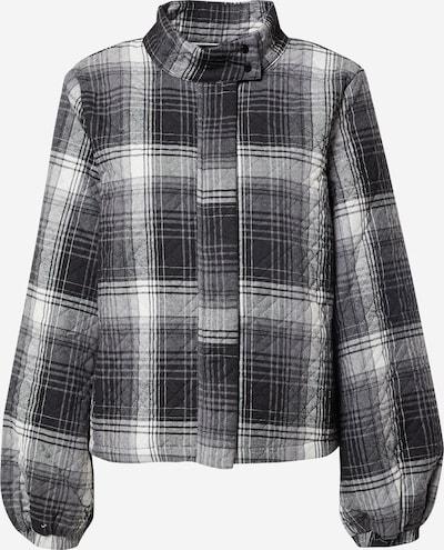 PULZ Jeans Övergångsjacka 'Lavia' i svart / vit, Produktvy