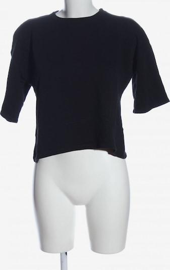 ZARA Kurzarm-Bluse in S in schwarz, Produktansicht