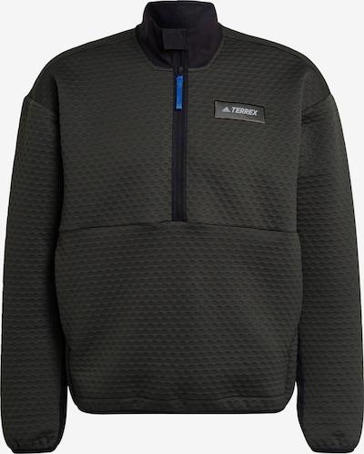 adidas Terrex Fleecejacke in blau / grau / schwarz / weiß, Produktansicht