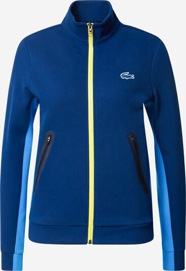 Lacoste Sport Sportovní mikina s kapucí - světlemodrá / tmavě modrá / žlutá / černá, Produkt