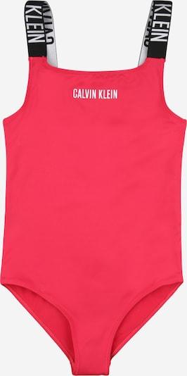 Calvin Klein Swimwear Badeanzug in pink / schwarz / weiß, Produktansicht