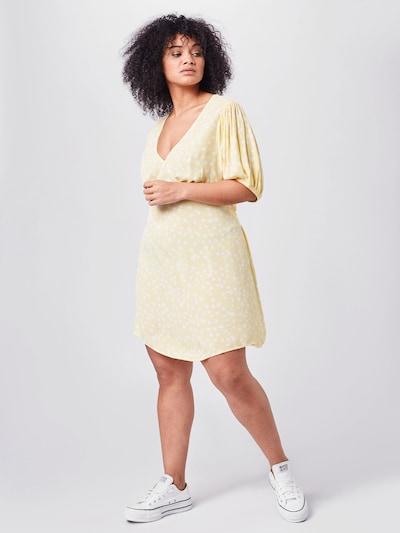 Cotton On Curve Kleid 'MIRANDA' in gelb / weiß, Modelansicht