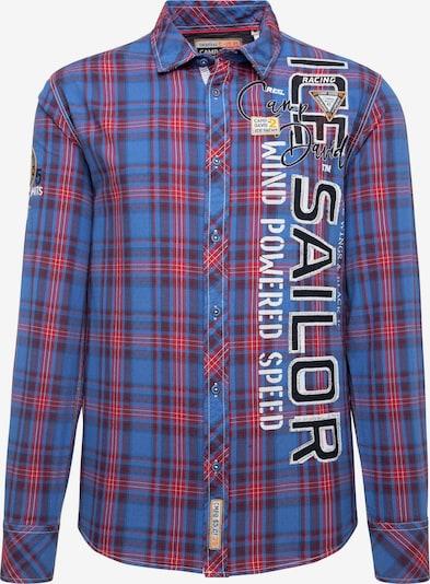 CAMP DAVID Hemd in blau / navy / feuerrot / schwarz / weiß, Produktansicht