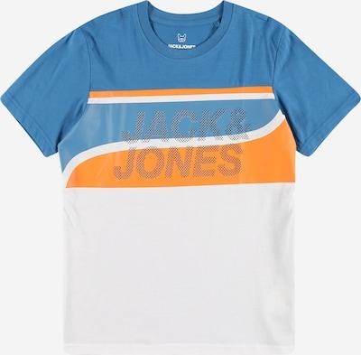 Jack & Jones Junior Majica 'RESIST' u kraljevsko plava / narančasta / bijela, Pregled proizvoda