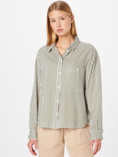 Marc O'Polo Bluse in khaki / weiß, Modelansicht