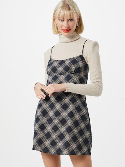 Motel Kleid in beige / navy / schwarz / weiß, Modelansicht