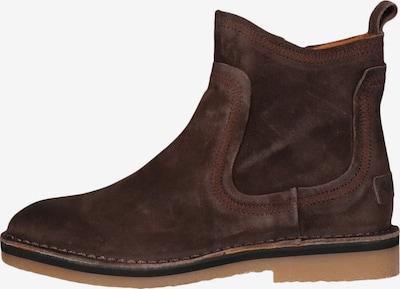 SHABBIES AMSTERDAM Flacher Boot mit Reißverschluss in braun, Produktansicht